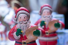 Ceramic statue of Santa Claus royalty free stock images