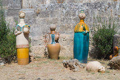 Ceramic statues. Stock Images