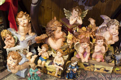 Ceramic statuettes of angels. Royalty Free Stock Photos