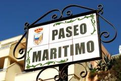 Ceramic street sign, Torremolinos. Royalty Free Stock Photo