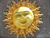 Ceramic sun. Handmade ceramic sun of Sicily, Taormina, Italy royalty free stock images