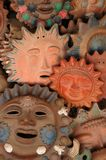 Ceramic Sunfaces. Colorful Ceramic Sunfaces royalty free stock photos