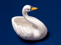Ceramic swan stock images