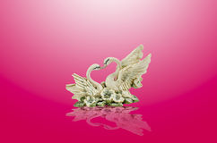 Ceramic swan Royalty Free Stock Photography