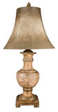 Ceramic Table Lamp and Shade. Contemporary Distressed Ceramic Table Lamp and Shade stock images