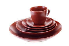 Ceramic tableware Stock Image