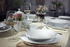 Ceramic tableware Stock Images