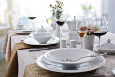 Ceramic tableware Stock Photo