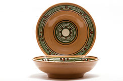 Ceramic tableware. With an ornament in a rustic style Stock Photography