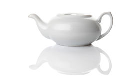 Ceramic tea-pot isolated in white Stock Images