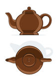 Ceramic teapot. Vector illustration isolated on white background royalty free illustration