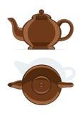 Ceramic teapot. Vector illustration isolated on white background Royalty Free Stock Photo