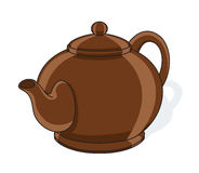 Ceramic teapot. Vector illustration isolated on white background Stock Image