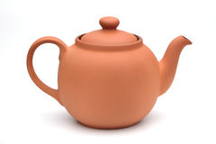 Ceramic teapot. On a white background Royalty Free Stock Images