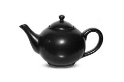 Ceramic teapot isolated on white Royalty Free Stock Photo