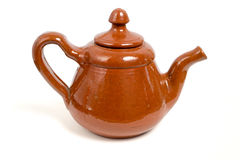 Ceramic teapot. Isolated on white background Royalty Free Stock Photo