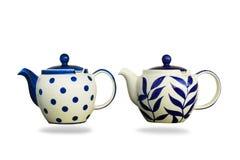 Ceramic teapot isolated on white background. Stock Photo