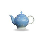 Ceramic teapot isolated on white background. Royalty Free Stock Photo