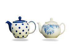 Ceramic teapot isolated on white background. Stock Images