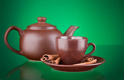 Ceramic teapot with tea Royalty Free Stock Images