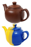 Ceramic teapots Stock Photo