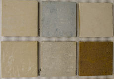Ceramic texture. Modern grey dark ceramic texture for house. Few color of samples Royalty Free Stock Images