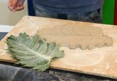 Ceramic thistle leaf Stock Image