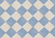 Ceramic  tile. Ceramic floor tile. Tiles of blue cubes and squares Royalty Free Stock Photography