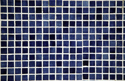 Ceramic tile. Small ceramic tile of dark blue color Royalty Free Stock Photos