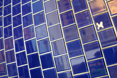 Ceramic tile. Blue ceramic tile wall can serve as background Stock Photo