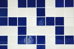 Ceramic Tile. Old ceramic tile in blue and white Royalty Free Stock Images