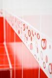 Ceramic tile. Modern red ceramic tile for bathroom wall Stock Image