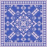 Ceramic tile. Blue colored ceramic tile in square shape Stock Images