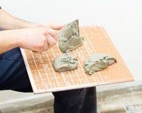 Ceramic Tile Adhesive Stock Photos