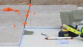 Ceramic tile on backer board Stock Photography