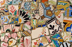 Ceramic Tile Background in Barcelona Spain Stock Image
