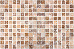 Ceramic tile background. Brown and beige square tiles Royalty Free Stock Photography