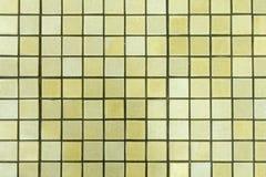Ceramic tile background. Small yellow square ceramic tile background horizontal Royalty Free Stock Photo