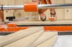 ceramic tile cutting process Stock Photography