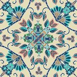 Ceramic tile. Decorative floral ornament.  Vector illustration. Stock Images