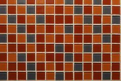 Ceramic tile. Detail of color pattern and texture of bathroom ceramic tile wall Royalty Free Stock Image