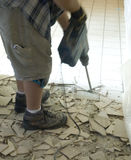 Ceramic tile floor demolition 1 Stock Photo