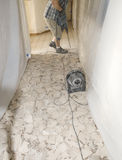 Ceramic tile floor demolition 3 royalty free stock images