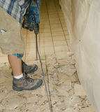 Ceramic tile floor demolition 8 Royalty Free Stock Image