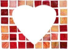 Ceramic tile heart stock photo