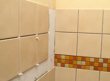 Ceramic Tile Installation Stock Images