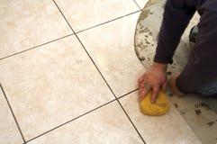 Ceramic Tile Installation Royalty Free Stock Photos