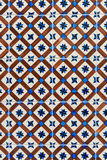 Ceramic tile in Lisbon street Royalty Free Stock Images