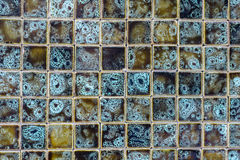 Ceramic tile mosaic background texture in natural colours Royalty Free Stock Photography