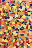 Ceramic tile mosaic. A colorful mosaic made from broken ceramic tiles stock images